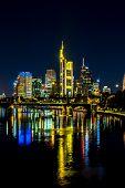 picture of frankfurt am main  - View of Frankfurt am Main skyline at sunset in Germany  - JPG