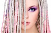 stock photo of dreads  - Close - JPG