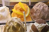 foto of picking tray  - Different flavors in a ice cream parlor - JPG