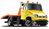 image of towing  - vector cartoon tow truck - JPG