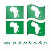 picture of sub-saharan  - Set of flags with the map of Africa eps 10 - JPG