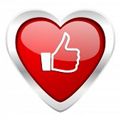 stock photo of day judgement  - thumbs up valentine icon thumb up sign  - JPG