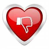 picture of dislike  - dislike valentine icon thumb down sign  - JPG