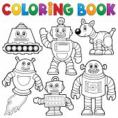 image of mechanical drawing  - Coloring book robot collection 1  - JPG
