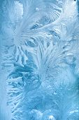 pic of freezing temperatures  - Abstract background of frost water on cold window glass - JPG