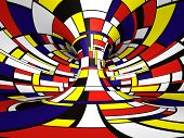 Abstract 3D Mondrian style poster