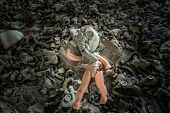 picture of creepy  - creepy doll in Middle School in Pripyat ghost town Chernobyl Nuclear Power Plant Zone of Alienation Ukraine - JPG