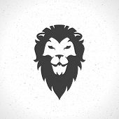 foto of lion  - Lion face logo emblem template for business or t - JPG