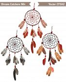 picture of dream-catcher  - Classic dream catchers vector design elements - JPG