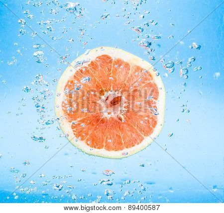 Grapefruit In Water