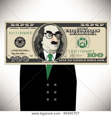Whimsical 100 Dollar Bill