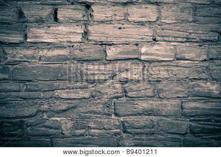 Old Brick Wall Monochrome