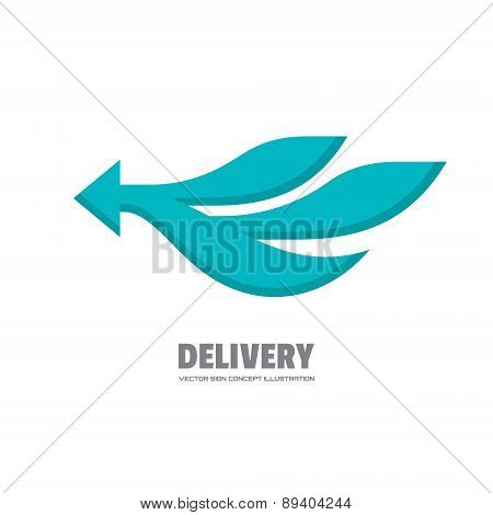 Delivery - vector logo concept illustration.