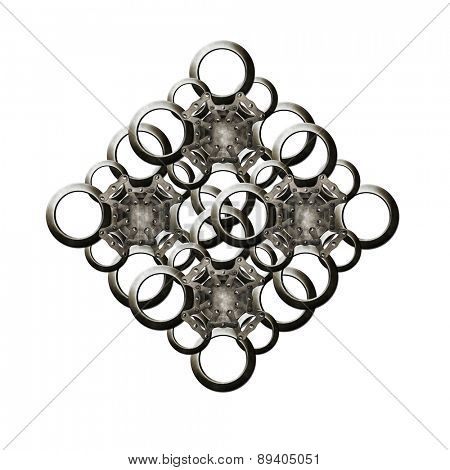 Art metal circles