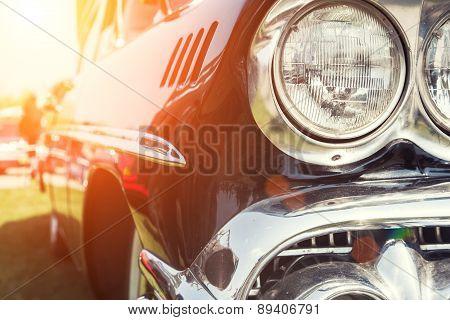 Close-up Photo Of Retro Car
