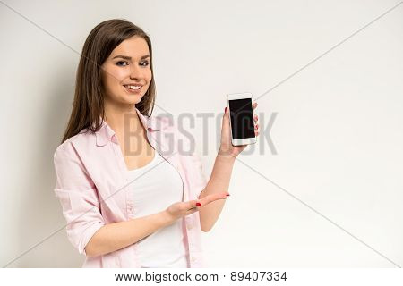 Girl With A Smart Phone