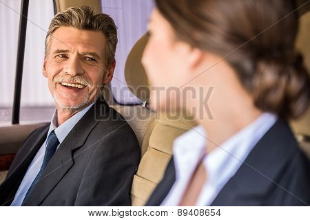 Businessman With His Personal Assistant