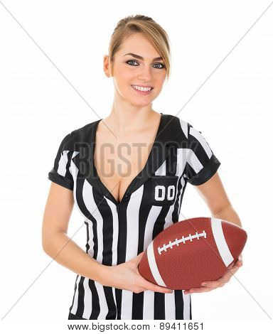Referee With American Football