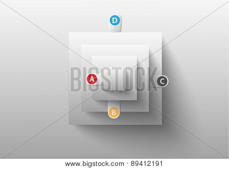 creative business infographics, white squares