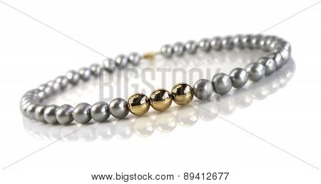 Beads Of  Gray Pearls