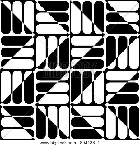 Seamless ZigZag Pattern. Abstract  Black and White Background. Vector Regular Texture