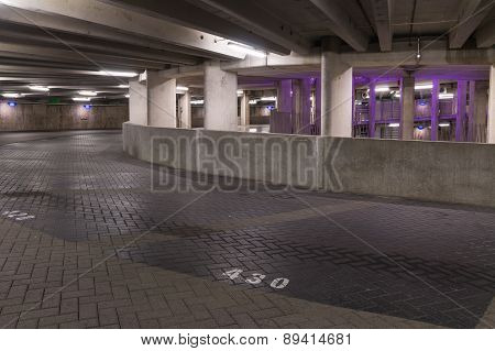 Groningen, The Netherlands - Circa 2014: Parking Spots Garage