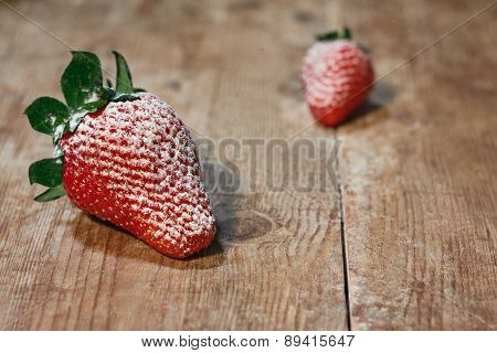 Strawberries With The Sugar