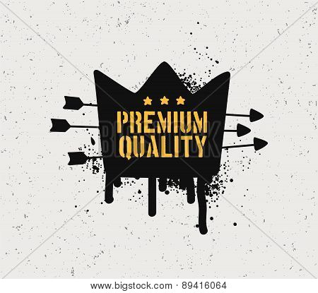 Premium quality badge.