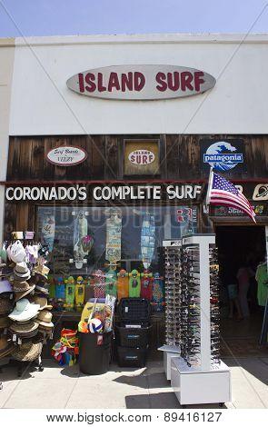 Island Surf Shop In Coronado Island