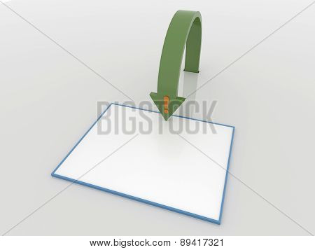 Information Arrow Concept Background With Placard And Symbol