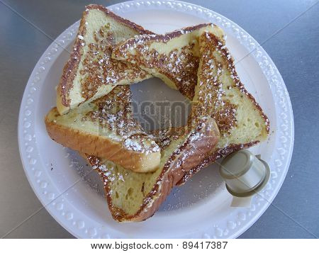 Sweet Bread French Toast - 5 Pieces With Frosting And Side Of Butter