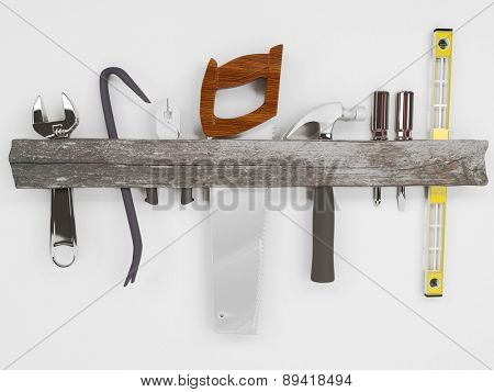 3D Render of Hand Tools