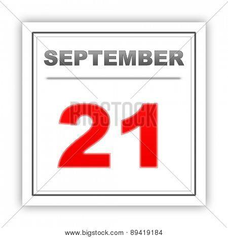September 21. Day on the calendar. 3d