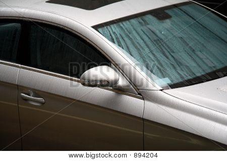 Wet Luxury Car