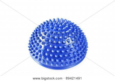 Foot massaging balancing ball