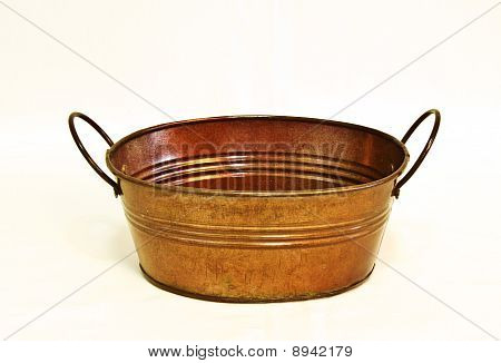 Oval Copper Bucket