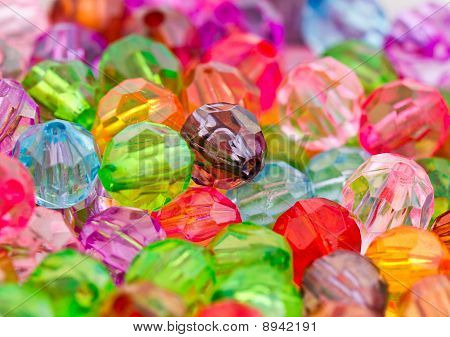 Multicolor Acrylic Beads