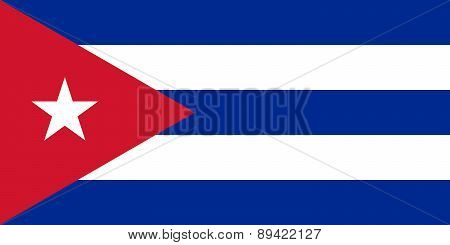 National flag Of Cuba, 1:2 scale version