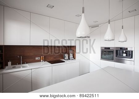 White Cupboards And Worktop