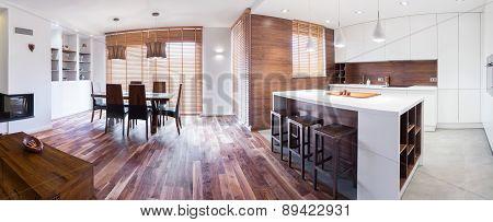 Wooden Elegant Detached House