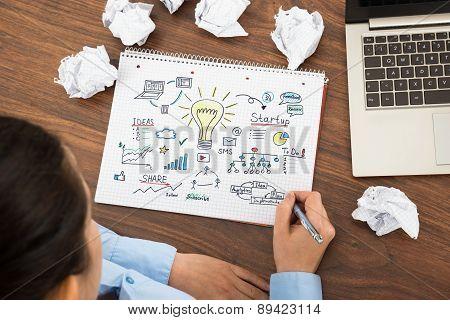 Businesswoman Planning For Start-up