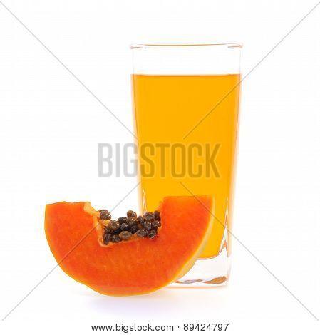 Papaya Juice Glass.