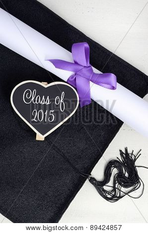 Graduation Day Cap And Diploma.