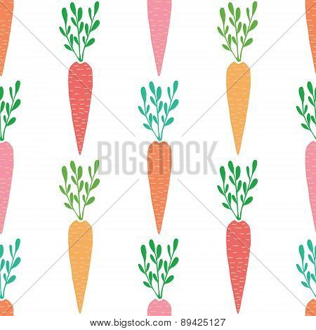 Vector yummy carrots seamless pattern background