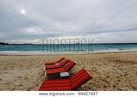 Nassau Bahamas sand and sea