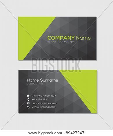 Modern business card with geometric design