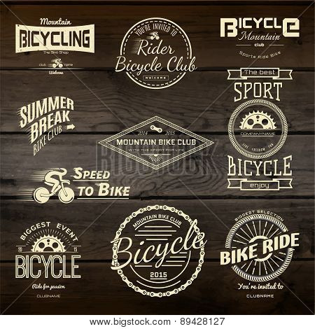 Bicycle Set Badges Logos And Labels For Any Use.