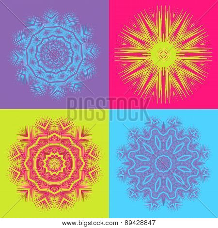 Set of 4 ornate elements
