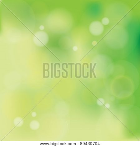 Natural Pastel Greenish Bokeh Background