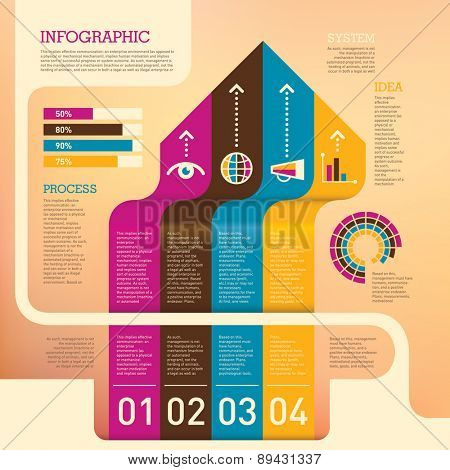 Conceptual info graphic background. Vector illustration.